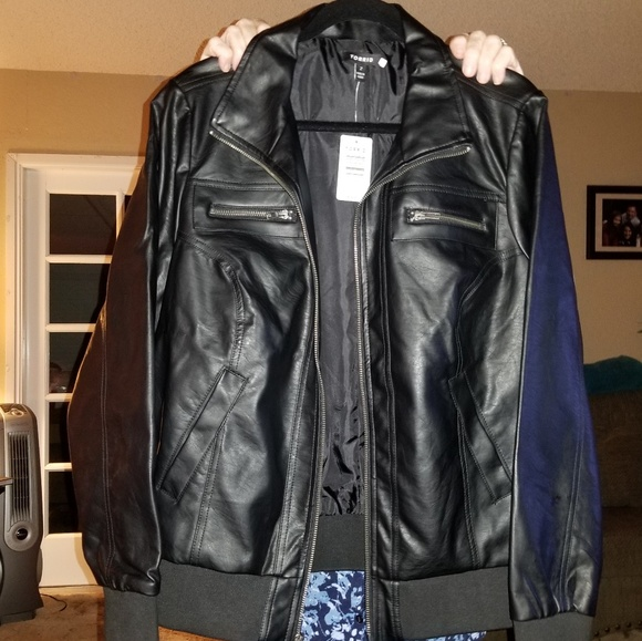8fee6bba408 Torrid Faux Leather Jacket size 2X NWT